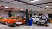 Bilene er parkert for vinteren