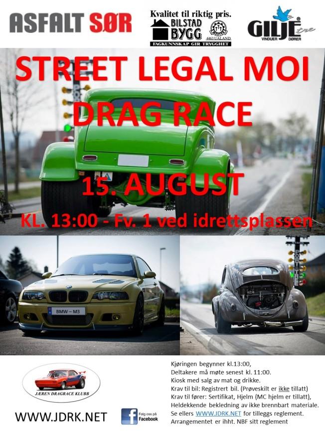 Plakat Street Legal Moi 2015
